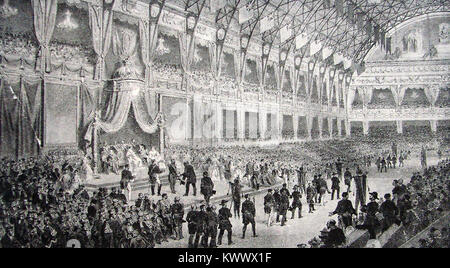 1855 Paris International Exhibition, France ( aka Exposition Universelle)  - The  prizewinners award ceremony - Stock Photo