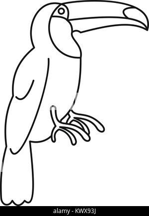 Toucan icon, simple style - Stock Photo