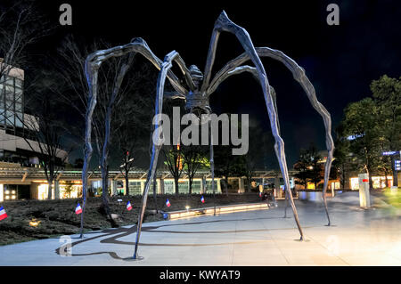 Tokyo, Japan - March 15, 2009: Maman - a spider sculpture by Louise Bourgeois, situated at the base of Mori Tower - Stock Photo