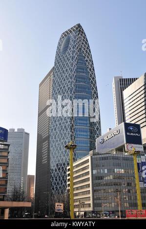 Tokyo, Japan - March 15, 2009: Mode Gakuen Cocoon Tower in the Shinjuku neighbhorhood of Tokyo, Japan - Stock Photo