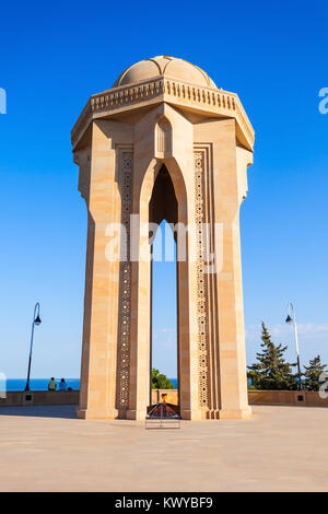 Monument at the Martyrs Lane or Alley of Martyrs, formerly The Kirov Park. - Stock Photo