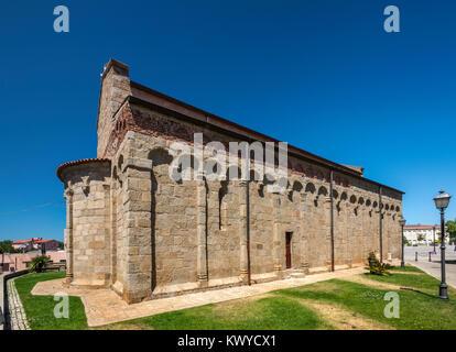 Chiesa di San Simplicio, 11–12th century, Pisan-Romanesque style, former cathedral in Olbia, Gallura region, Sassari - Stock Photo
