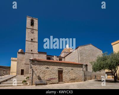 Chiesa di San Paolo, 18th century church at Piazza Santa Croce in Olbia, Gallura region, Sassari province, Sardinia, - Stock Photo