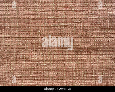 Texture of light brown wallpaper with a stripped pattern. Paper surface, structure close-up. - Stock Photo