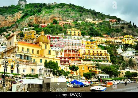 View of Positano, Italy - Stock Photo