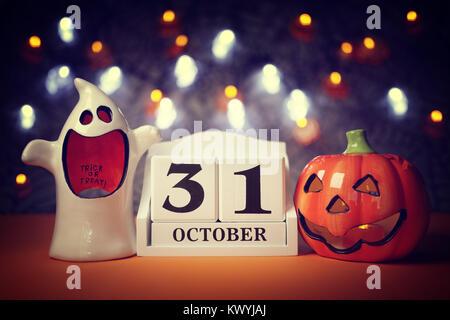 Holiday Halloween, calendar October 31 Stock Photo, Royalty Free ...