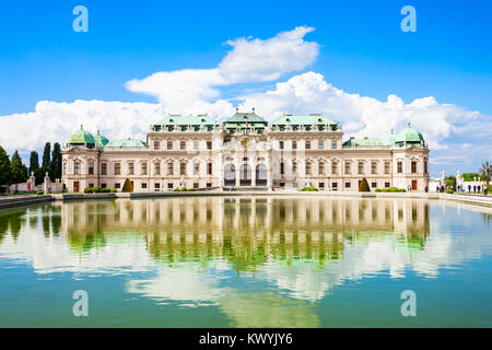 The Belvedere Palace is a historic building complex in Vienna, Austria. Belvedere was built as a summer residence - Stock Photo