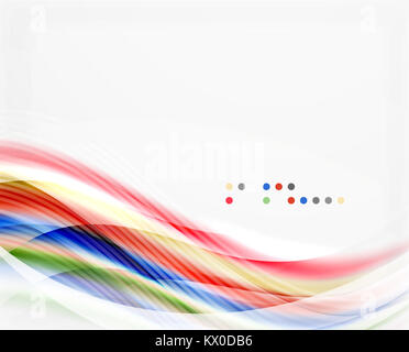 Modern hi-tech glossy glass wave, background - Stock Photo
