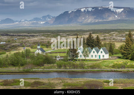 Þingvellir, Thingvellir a historic site and National Park and location of the Alþing (Althing), Iceland's parliament - Stock Photo