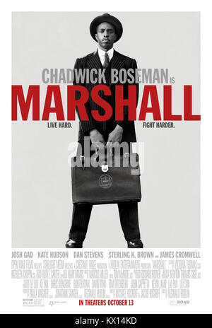 RELEASE DATE: October 13, 2017 TITLE: Marshall STUDIO: Open Road Films DIRECTOR: Reginald Hudlin PLOT: About a young - Stock Photo