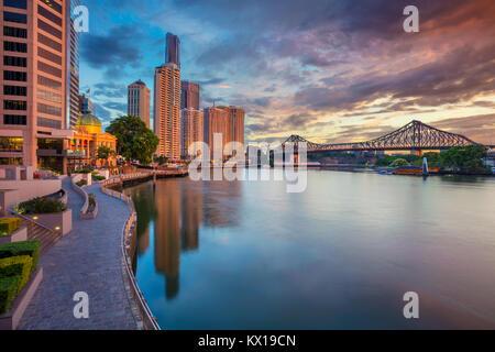 Brisbane. Cityscape image of Brisbane skyline, Australia during sunrise. - Stock Photo