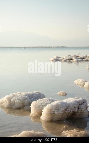 Salt Rocks at The Dead Sea Stock Photo