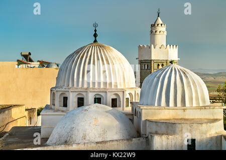 Sidi Bou Makhlouf Mosque at El Kef in Tunisia - Stock Photo
