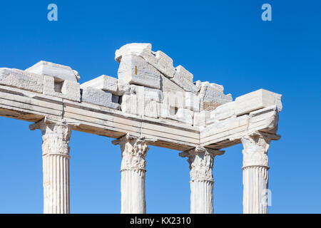 The Temple of Apollo.  The Temple of Apollo is located in the ancient Greek city of Side in southern Turkey. - Stock Photo
