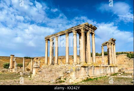 Temple of Juno Caelestis at Dougga, an ancient Roman town in Tunisia - Stock Photo