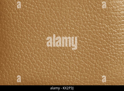 Texture of Light Brown Colored Genuine Leather, Closed up for Background, Pattern - Stock Photo