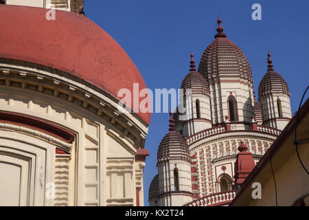 Dakshineswar Kali Temple in Kolkata - Stock Photo