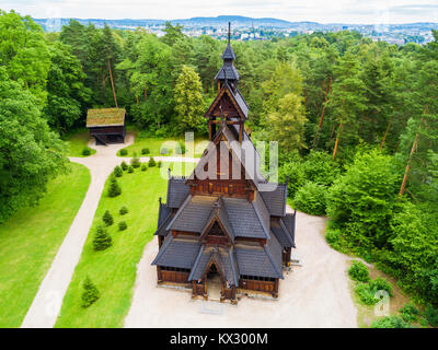 Gol Stave Church or Gol Stavkyrkje is a stave church in Oslo, Norway. Gol Stave Church located in the Norwegian - Stock Photo