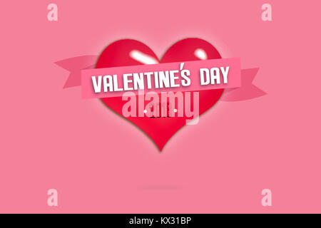 Happy Valentines Day greeting card. I Love You. 14 February ...