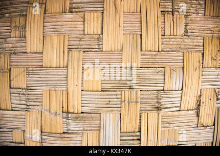 Close up of woven grass hut wall exterior on Mystery Island, Vanuatu - Stock Photo