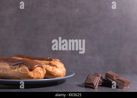 home backed eclairs - Stock Photo