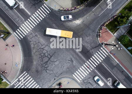 Road traffic in city - Stock Photo