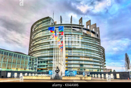 Seat of the European Parliament in Strasbourg, France - Stock Photo