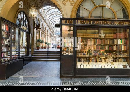 France, Paris (75), Galerie Vivienne, used book store - Stock Photo