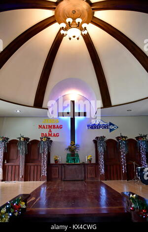 Santiago city, Isabela, Philippines, December 17, 2017, Buenavista United Methodist Church, main church in Buenavista - Stock Photo
