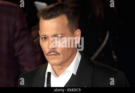 Nov 02, 2017 - Johnny Depp attending 'Murder On The Orient Express' World Premiere, Royal Albert Hall in London, England, UK