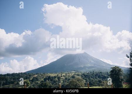Arenal Volcano, Arenal Volcano National Park, la Fortuna, Alajuela, Costa Rica - Stock Photo