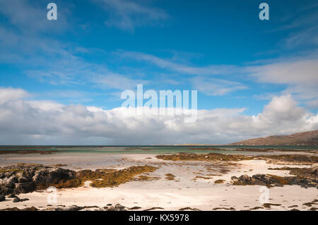 Rubha Chlaidh on the Isle of Eriskay in the Outer Hebrides, Scotland, looking north across The Sound of Eriskay - Stock Photo