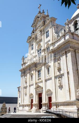 Coimbra Portugal University of Coimbra Universidade de Coimbra New Cathedral Se Nova exterior facade Baroque architecture - Stock Photo