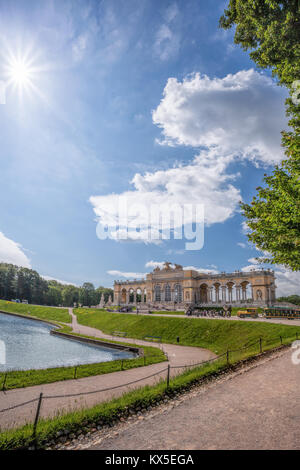 Famous Gloriette in Schonbrunn Palace, Vienna, Austria - Stock Photo