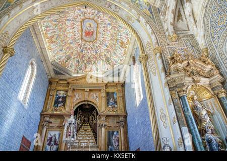 Coimbra Portugal University of Coimbra Universidade de Coimbra Capela de Sao Miguel Saint Michael's Chapel Friar - Stock Photo
