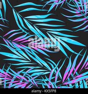 Tropic summer vibes leaf background. Vector illustration. - Stock Photo