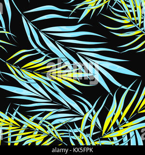 Tropic summer vibes leaf background. Vector illustration. - Stock Photo