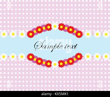 Retro spring background with flower pattern, empty space for text. Vector eps 10. - Stock Photo