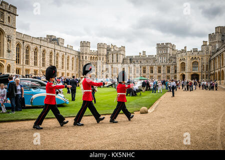 Changing the Guard during the 2016 Concours of Elegance at Windsor Castle - Stock Photo