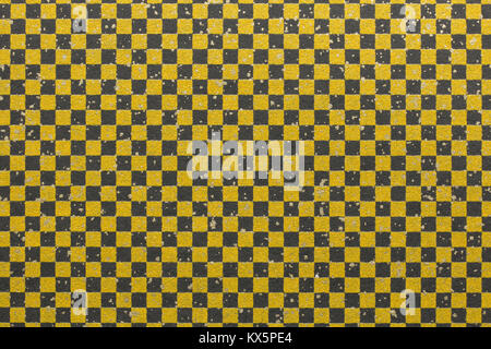 Japanese gold black checkered pattern paper texture background - Stock Photo