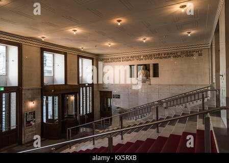 Vienna,  Austria - August 17, 2017: Entrance to Austrian Postal Savings Bank building called Osterreichische Postsparkasse - Stock Photo