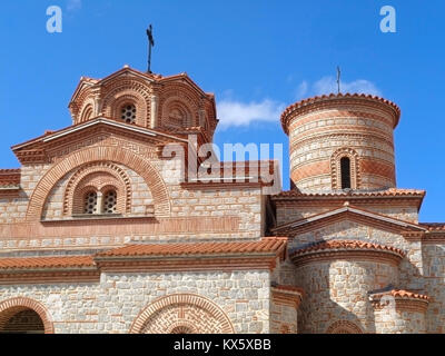 Stunning Decorated facade of St. Clement's Church at Ohrid, Macedonia - Stock Photo