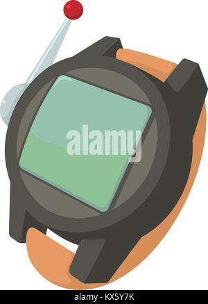 Spy wristwatch icon, cartoon style - Stock Photo