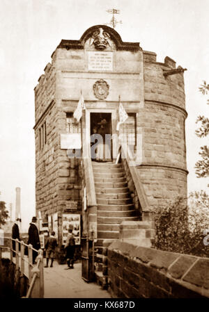 King Charles' Watch Tower, City Walls, Chester, early 1900s - Stock Photo