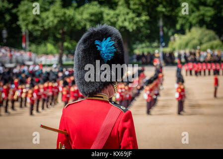 Trooping The Colour rehearsals 2017 at Horse Guards Parade in London - Stock Photo