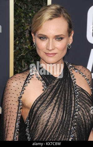 Los Angeles, California, USA. 7th Jan, 2018. Actress DIANE KRUGER at 75th Annual Golden Globe Awards - Arrivals - Stock Photo
