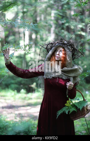 Fortune-teller conducts a ritual - Stock Photo