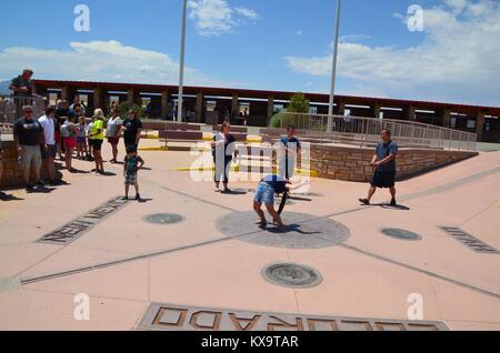 four corners  monument utah new mexico arizona colorado USA - Stock Photo
