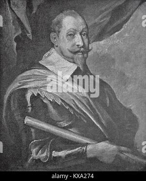 Gustav II Adolf, December 19, 1594 - November 16, 1632, descended from the Wasa ruling family, was king of Sweden - Stock Photo