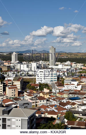 Vista de cima da cidade, Pouso Alegre, Minas Gerais, Brazil, 07/2017 - Stock Photo